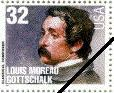U.S. Mail stamp: Louis Moreau Gottschalk